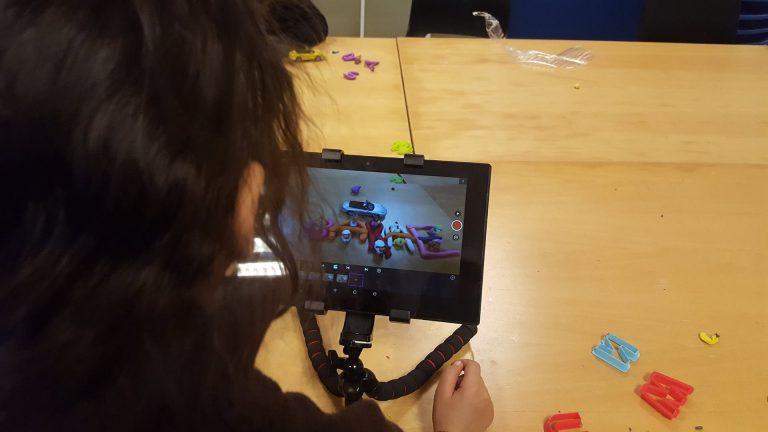 Stop-motion animation workshop with asylum children